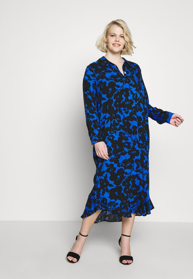 SPUN RUFFLE DRESS - Shirt dress - blue