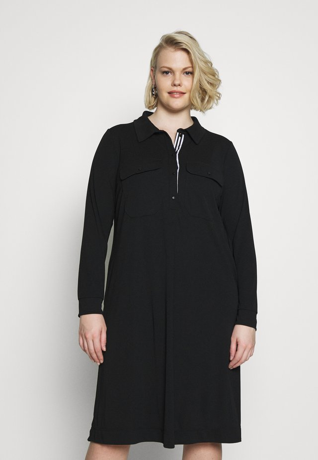 PATCH POCKET DRESS - Shirt dress - black