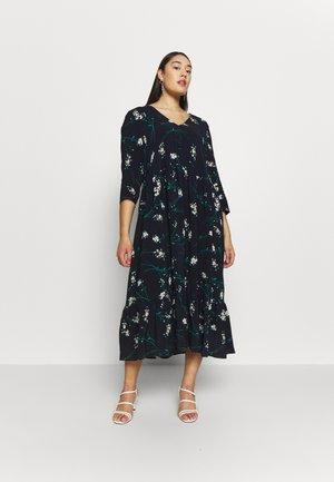 NAVY PRINT TIERED DRESS - Korte jurk - dark blue