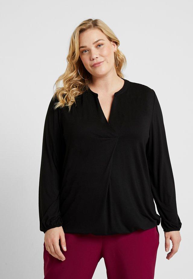 BUBBLE - Long sleeved top - black