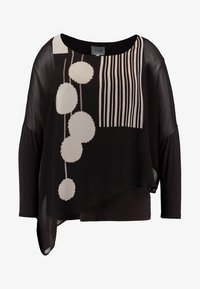 Live Unlimited London - POM POM PRINTED - Blouse - chocolate - 4