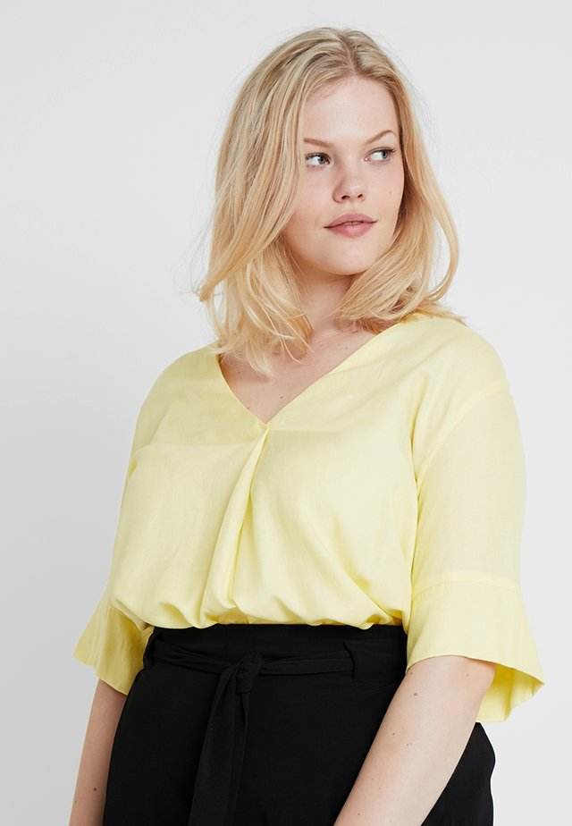 V NECK - Blouse - yellow
