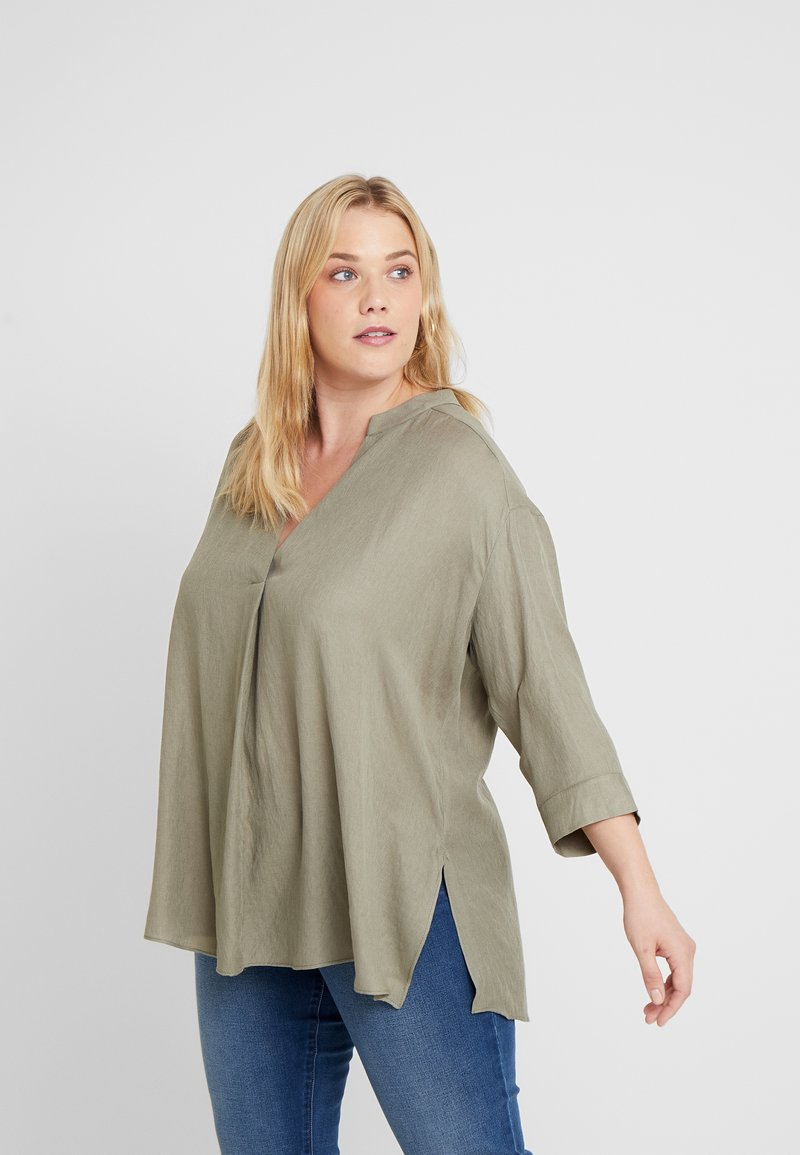 Live Unlimited London - SAGE CHAMBRAY - Blouse - green