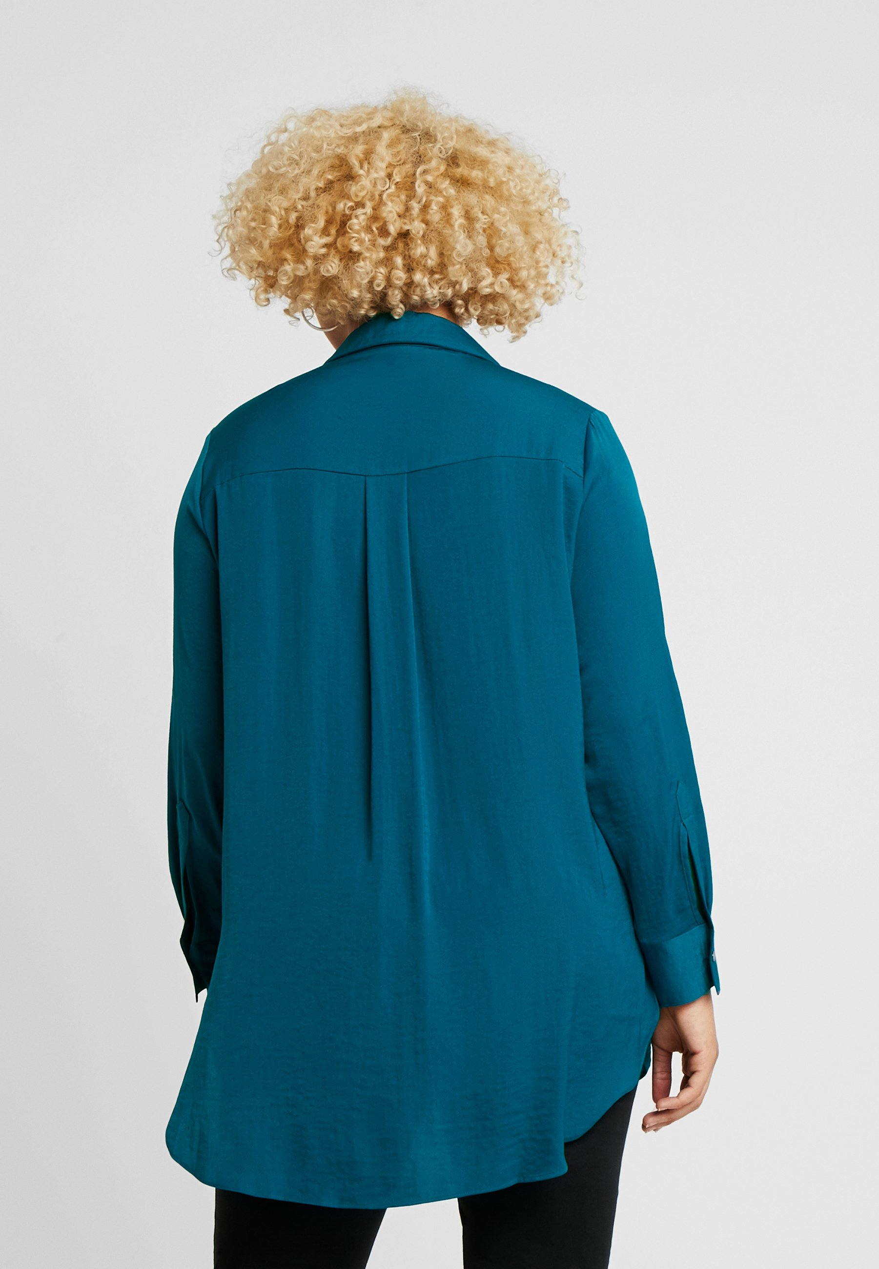 Live Unlimited London MILITARY HAMMERED  - Skjorte - aqua