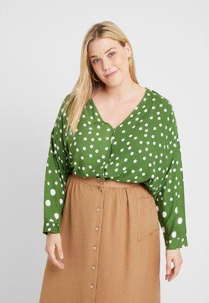 SPOTTY BLOUSE - Blouse - green