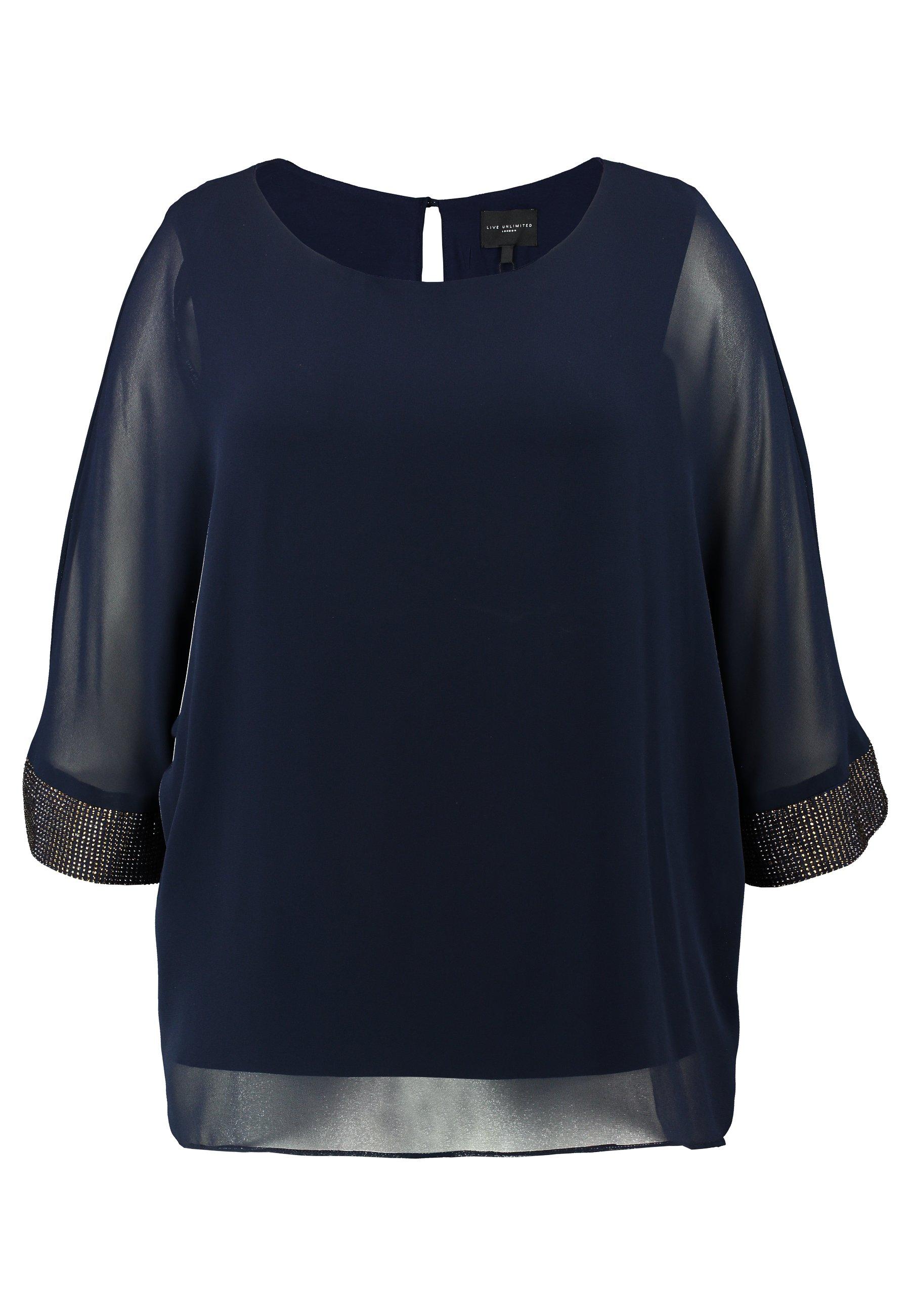 Live Unlimited London Dolman Sleeve Blouse - Bluser Navy