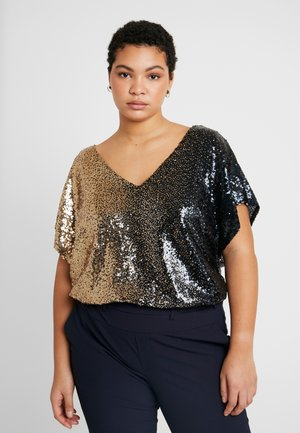 SEQUIN OMBRE - Pusero - black