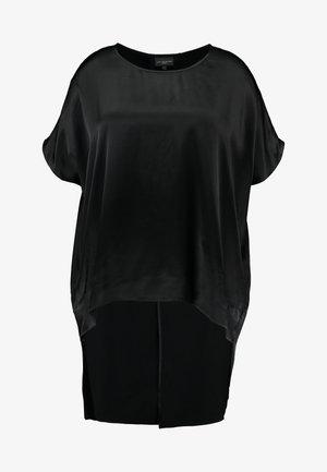 COCOON TOP WITH LONG SPLIT BACK - Blus - black