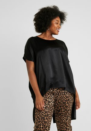 COCOON TOP WITH LONG SPLIT BACK - Blouse - black