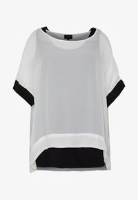 Live Unlimited London - MONO BLOUSE WITH CUFF - Blouse - white - 4