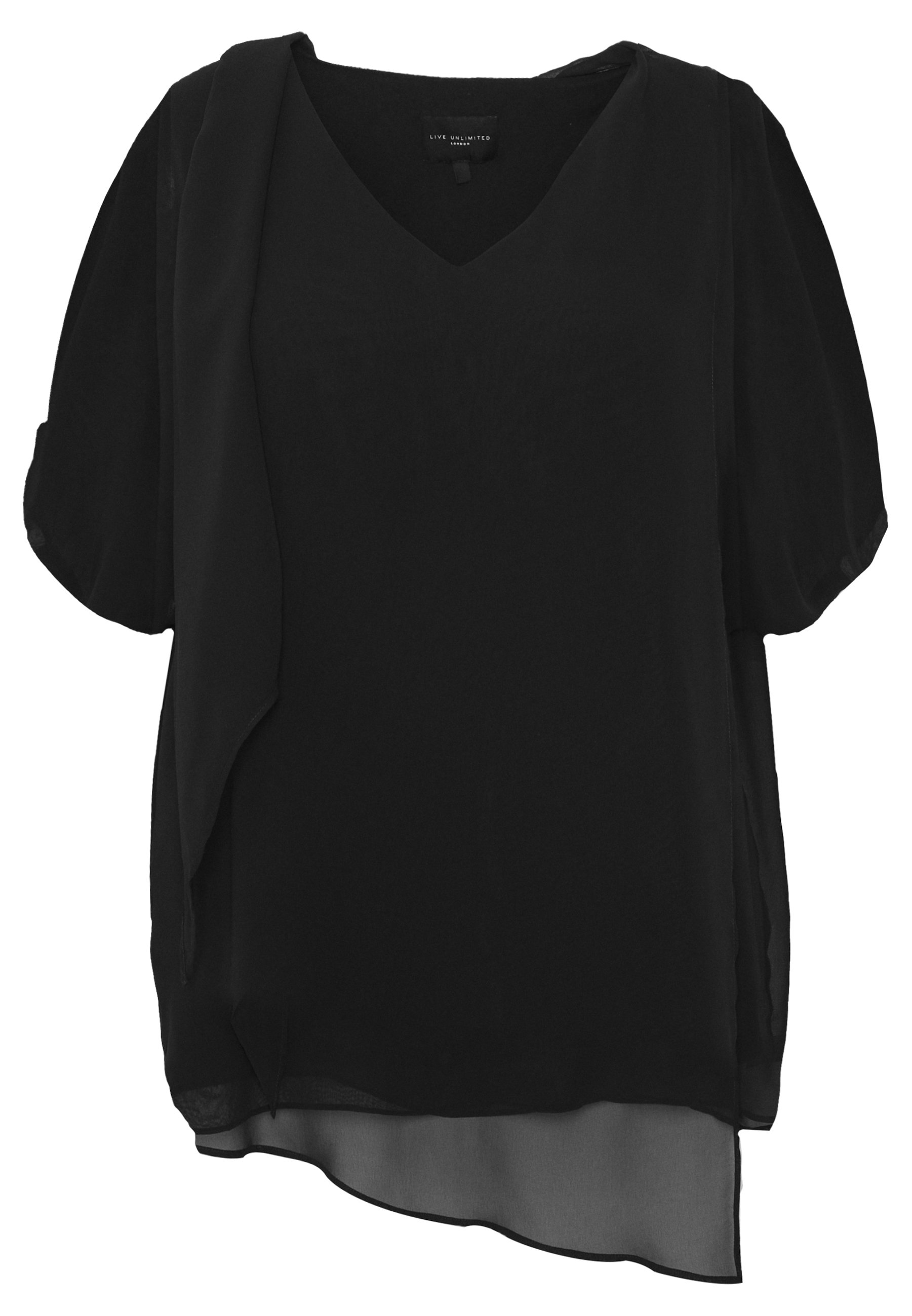 Live Unlimited London Blouse - Blus Black