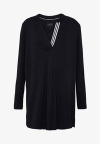 Live Unlimited London - FRENCH CREPE BLOUSE - Long sleeved top - black - 5