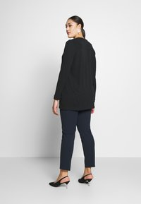 Live Unlimited London - FRENCH CREPE BLOUSE - Long sleeved top - black - 2