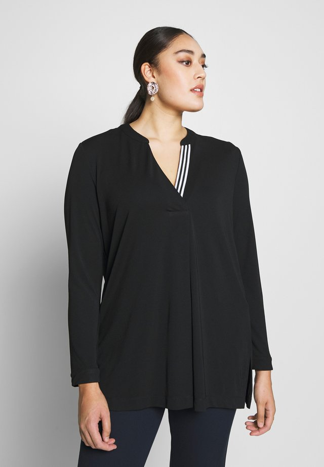 FRENCH CREPE BLOUSE - Long sleeved top - black