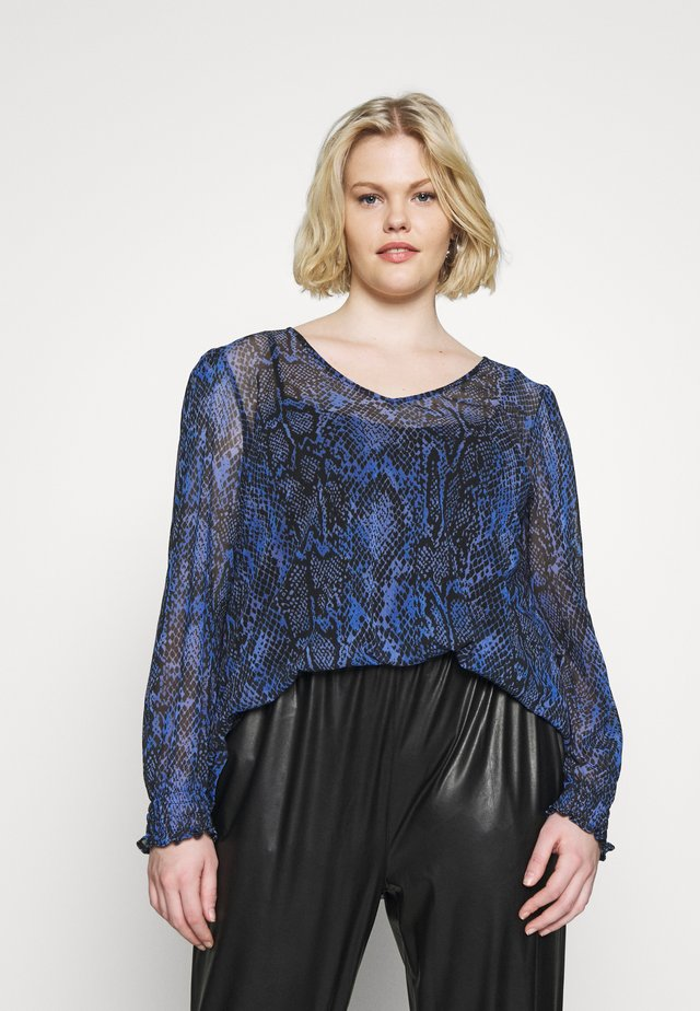 COBALT SNAKE SKIN  - Long sleeved top - blue