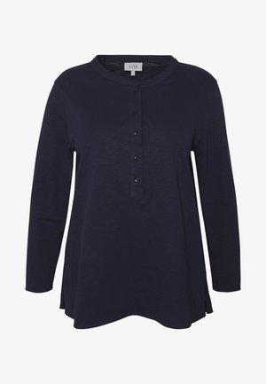 NAVY SLUB TEE - Long sleeved top - dark blue