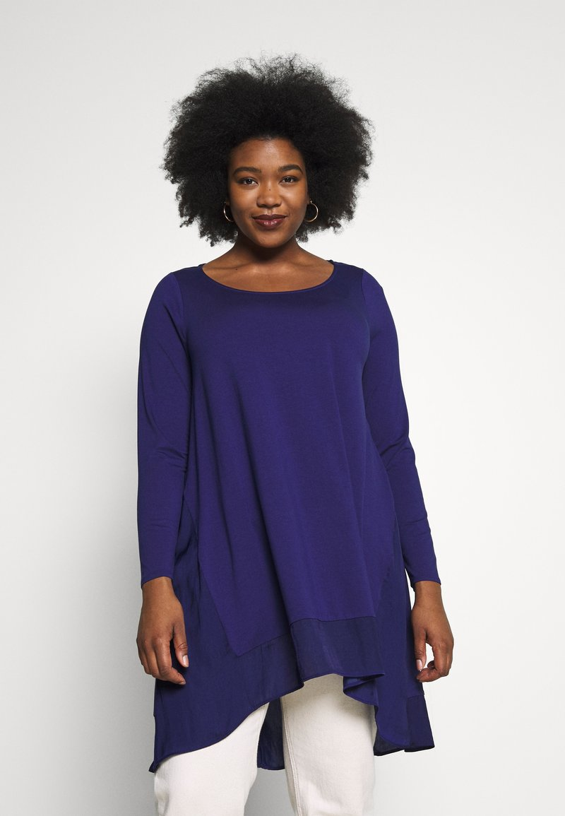 Live Unlimited London - BLUE CUT & SEW - Long sleeved top - blue