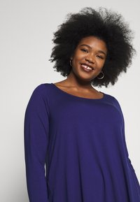 Live Unlimited London - BLUE CUT & SEW - Long sleeved top - blue - 4