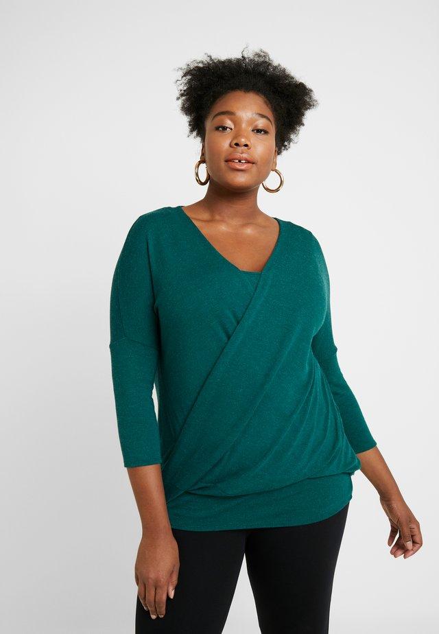 WRAP FRONT - Stickad tröja - green