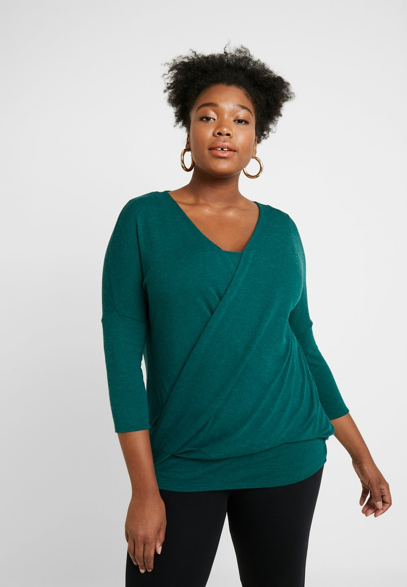 Live Unlimited London - WRAP FRONT - Strickpullover - green