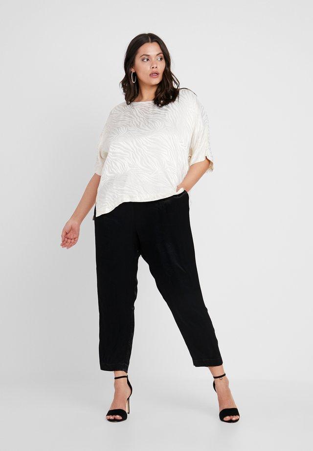 ZEBRA PRINT WIDE LEG 2-IN-1 - Jumpsuit - black