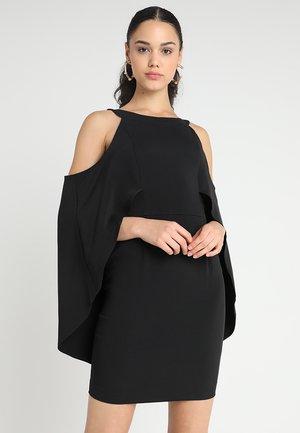 COLD SHOULDER DRAPED DRESS - Robe de soirée - black