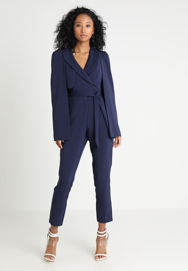 TAILORED CAPE WITH STORM FLAP - Jumpsuit - navy
