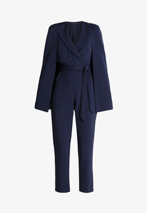 TAILORED CAPE WITH STORM FLAP - Overal - navy