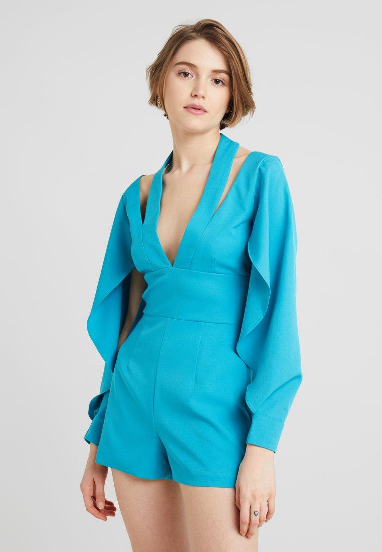 Lavish Alice - CUT OUT NECK ORIGAMI FOLDED SLEEVE - Jumpsuit - turquoise