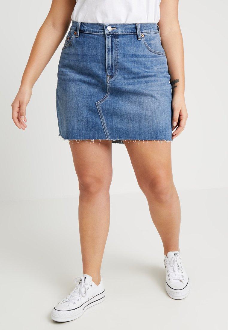 Levi's® Plus - PL DECONSTRUCTED SKIRT - A-snit nederdel/ A-formede nederdele - middle man plus