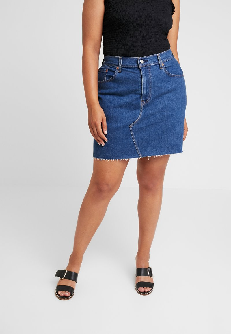 Levi's® Plus - PL DECONSTRUCTED SKIRT - A-line skjørt - meet in the middle