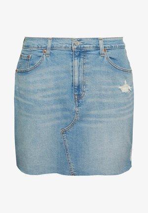 DECONSTRUCTED SKIRT - Gonna di jeans - light-blue denim