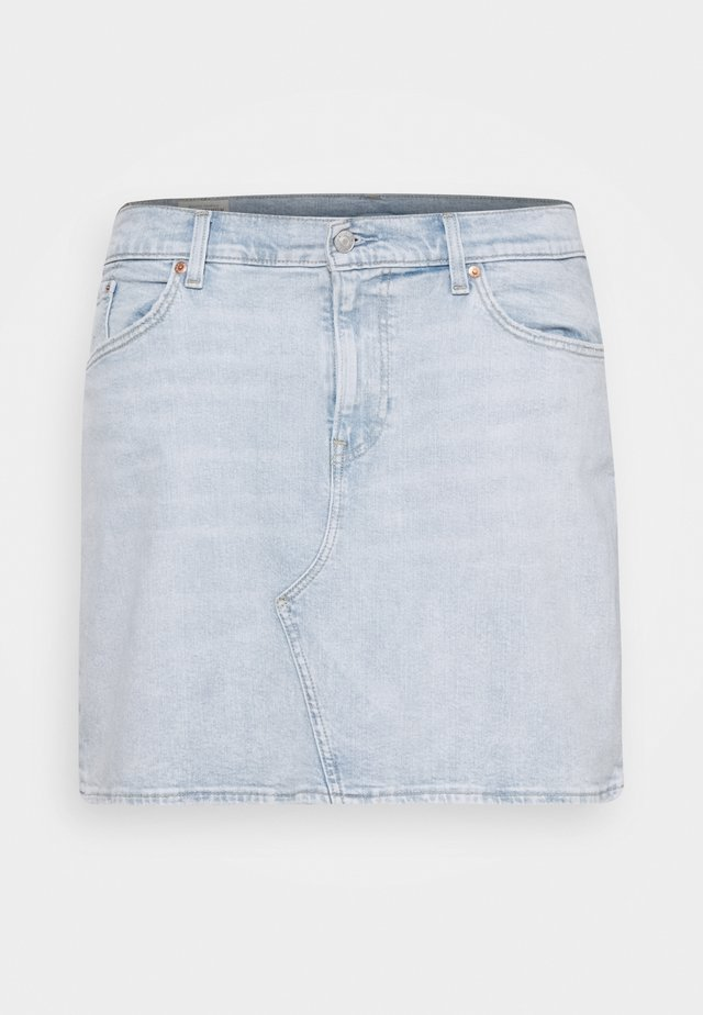 DECONSTRUCTED SKIRT - Jeansskjørt - light-blue denim