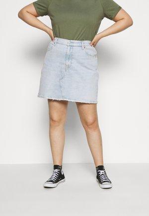 DECONSTRUCTED SKIRT - Denim skirt - light-blue denim