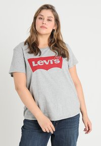 Levi's® Plus - PERFECT TEE  - T-shirt imprimé - housemark smokestack heather - 0