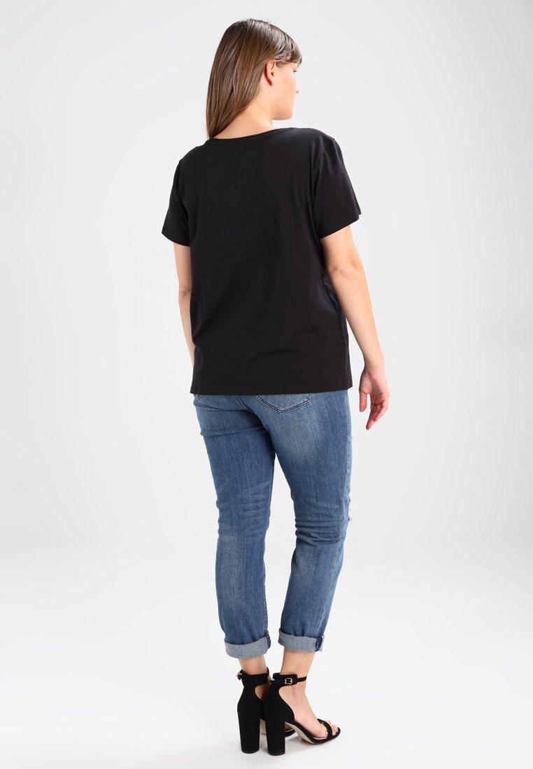 Levi's® Plus PERFECT TEE  - T-shirts med print - plus batwing jet black