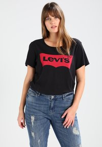 Levi's® Plus - PERFECT TEE  - Printtipaita - plus batwing jet black - 0