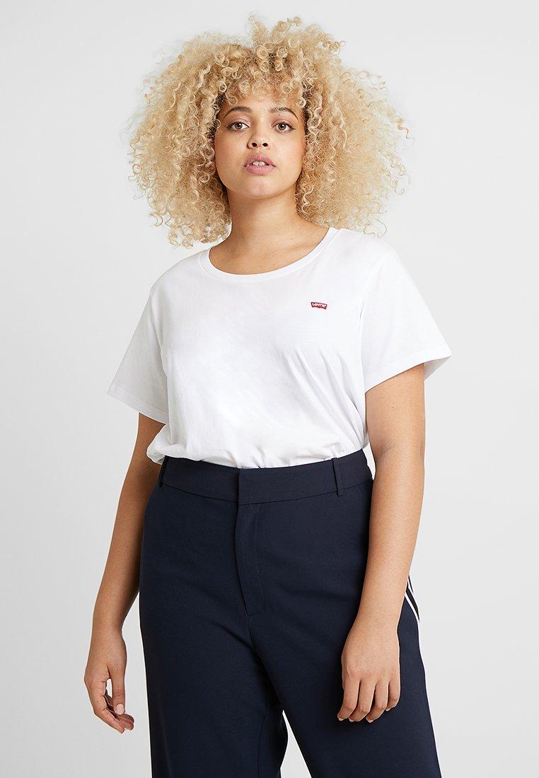 Levi's® Plus PERFECT CREW - T-shirt z nadrukiem - white