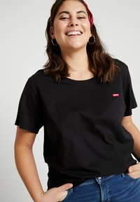 Levi's® Plus - PERFECT CREW - T-shirts med print - mineral black - 3