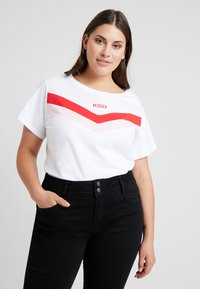 Levi's® Plus - FLORENCE TEE - T-shirt imprimé - white - 0
