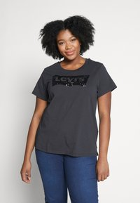 Levi's® Plus - PERFECT - Print T-shirt - meteorite - 0