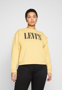 Levi's® Plus - GRAPHIC MADISON CREW - Sweatshirt - ochre - 0
