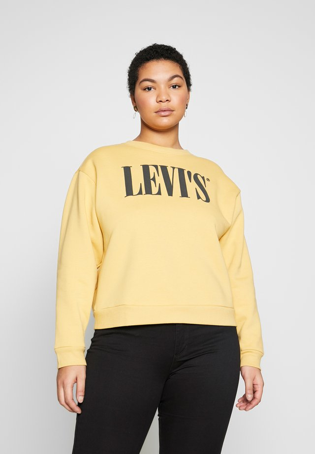 GRAPHIC MADISON CREW - Sweater - ochre