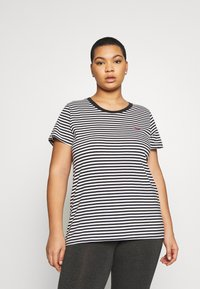 Levi's® Plus - PERFECT CREW - T-shirt print - raita caviar - 0