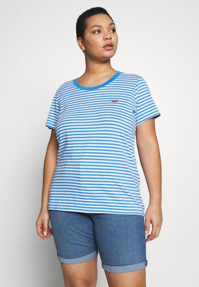 PERFECT CREW - T-shirt med print - blue