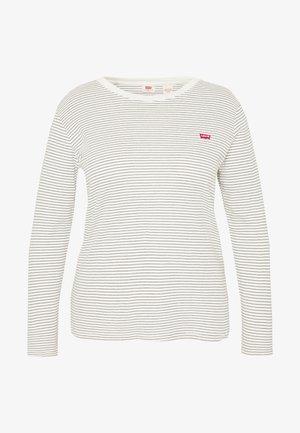 BABY TEE - Long sleeved top - ecru/black