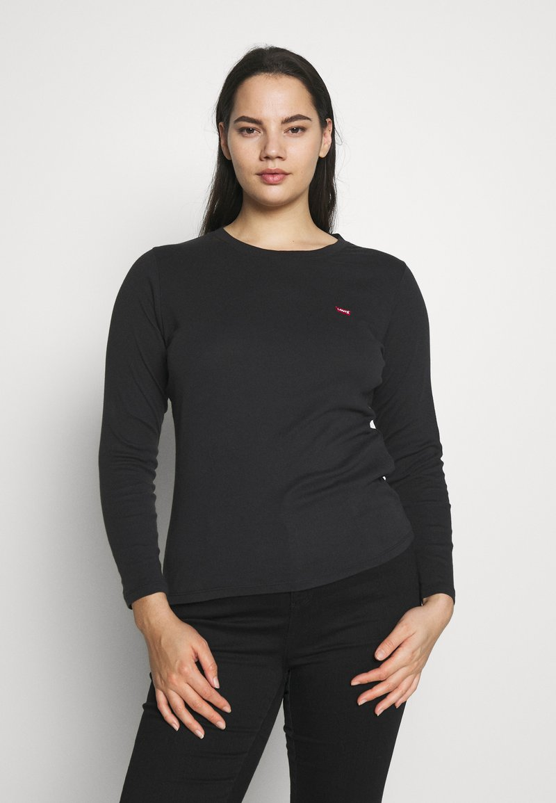 Levi's® Plus - BABY TEE - Long sleeved top - black solid