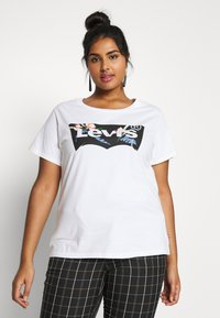 Levi's® Plus - THE PERFECT TEE - T-shirts med print - white - 0
