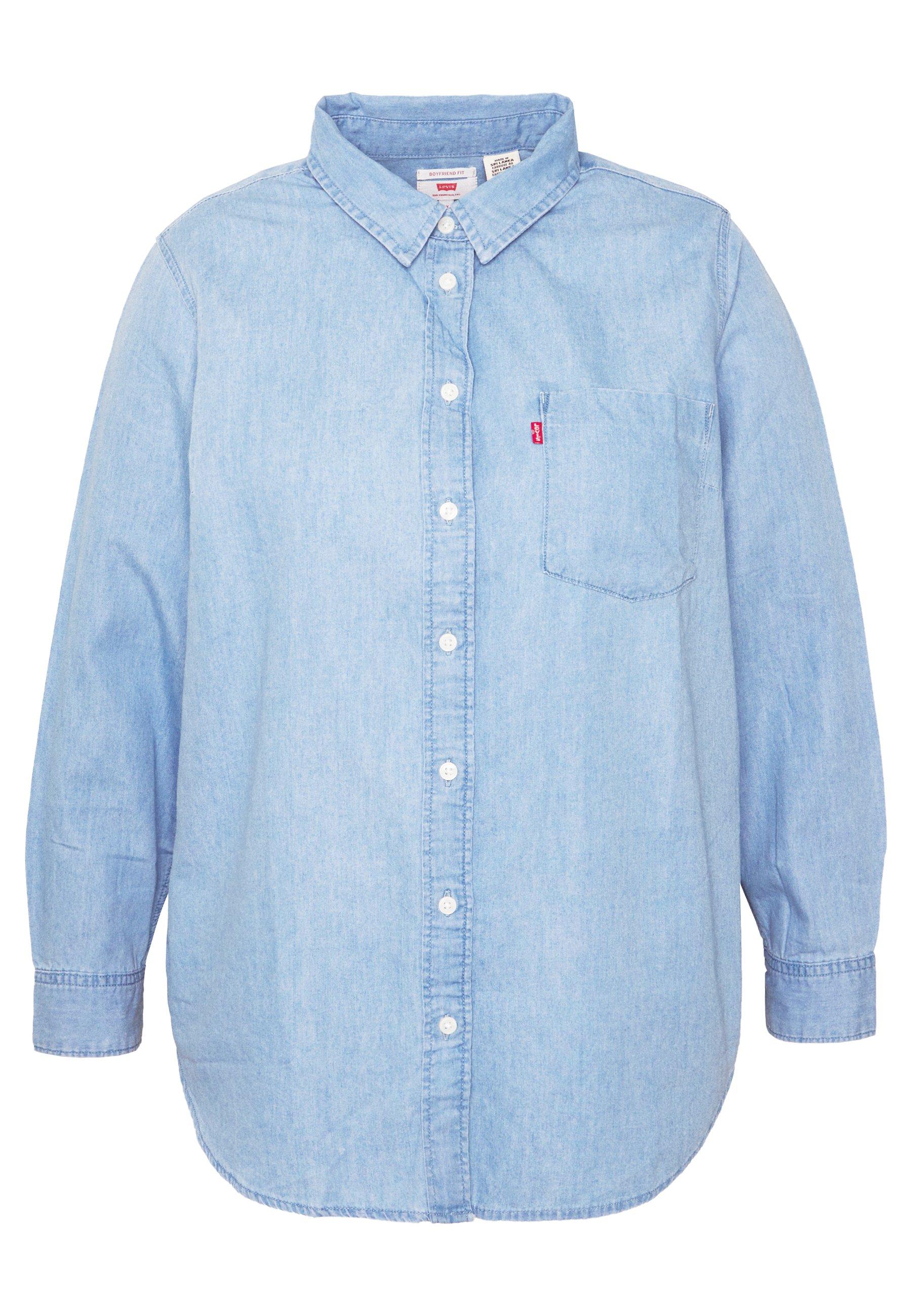 Levi's® Plus ULTIMATE BOYFRIEND - Koszula - light mid wash