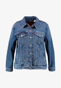 Levi's® Plus - EX BOYFRIEND TRUCKER - Veste en jean - groovemarks - 3